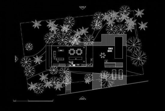 Contemporary Architecture of Iporanga House, Contemporary Architecture, Iporanga House, living level plan,