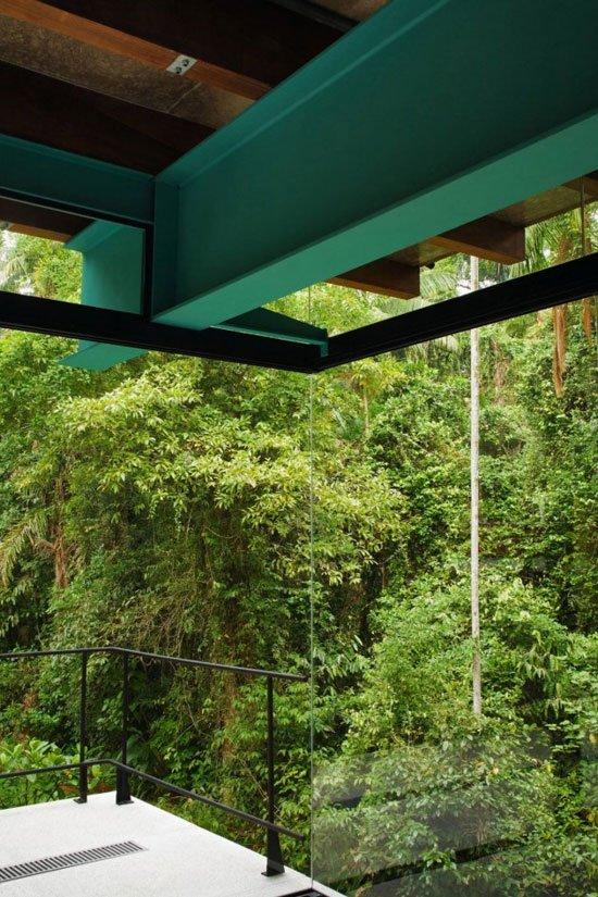 Contemporary Architecture of Iporanga House, Contemporary Architecture, Iporanga House, forest view,