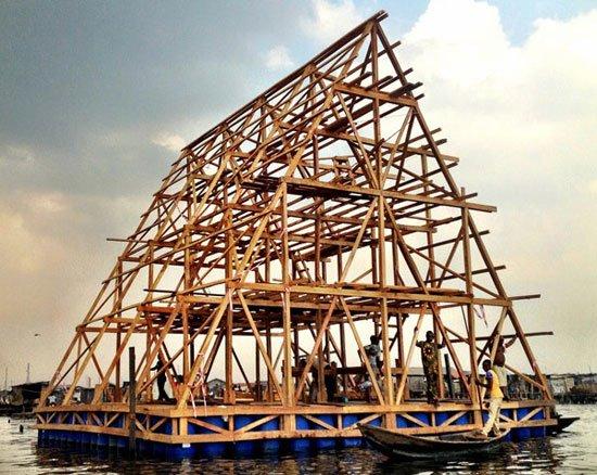 Floating School of Makoko Nigeria, Architect Kunle Adeyemi, NLE,