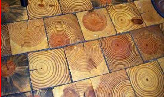 Amazing Growth Circle Wooden Pattern Flooring, Creative Inexpensive Flooring Ideas,