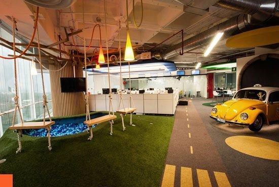 Innovative google office interior design at mexico city for Google office interior designs pictures