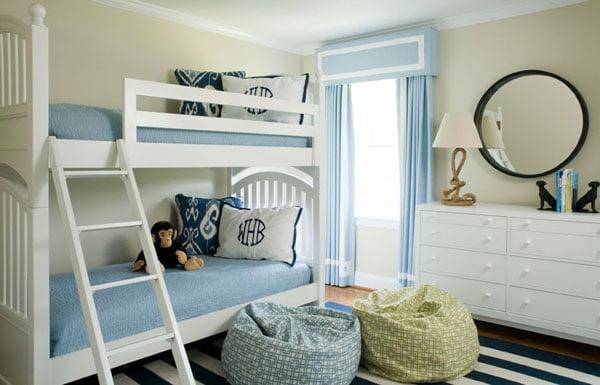 multifunctional bedroom ideas, monochromatic color scheme,