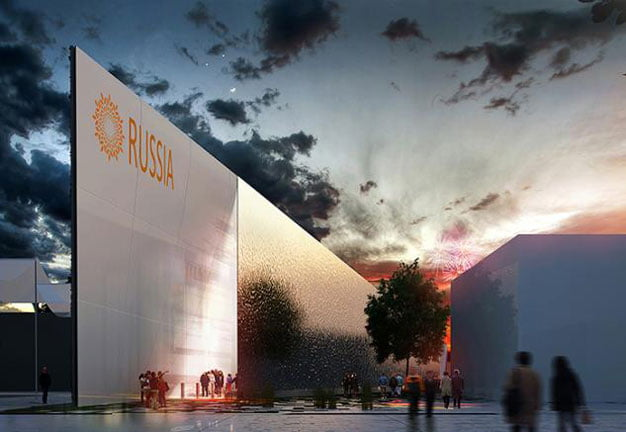 temporary architecture in milan expo, russian pavilion, milan expo,