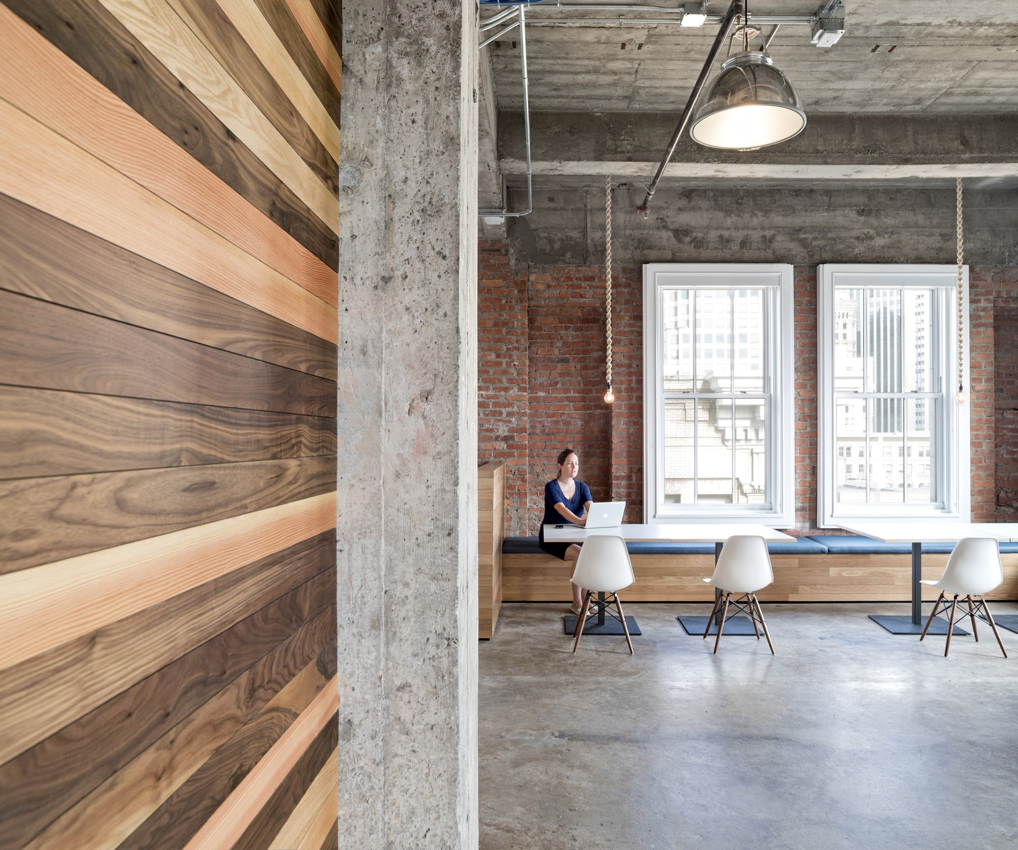 Exposed Brick Walls And Concrete Define The New Yelp