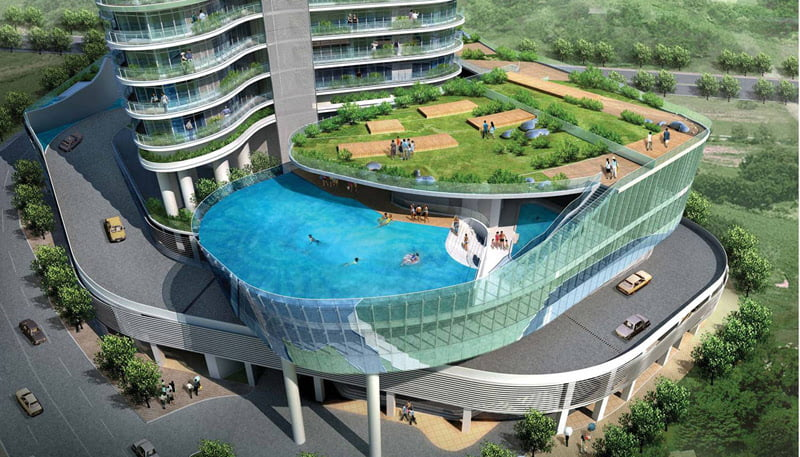 Aquaria Grande, Mumbai, India, swimming pools,