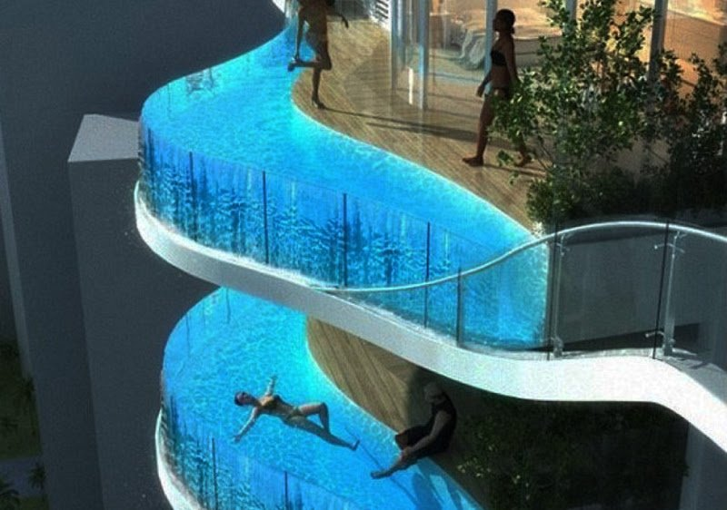 Aquaria Grande Residential Tower, Mumbai, India, swimming pools,