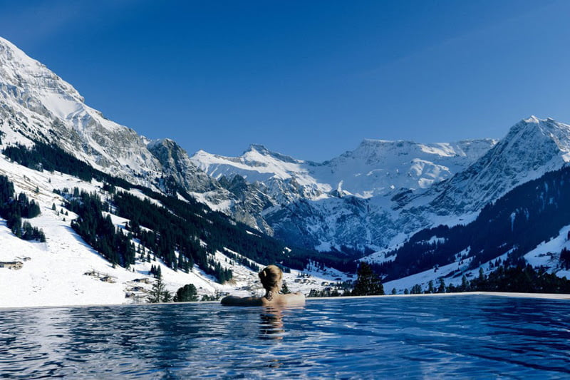Cambrian Hotel- The Perfect Mix Between Rustic and Luxurious Design, Switzerland, swimming pools,