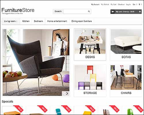 Comfortable Furniture Magento Theme