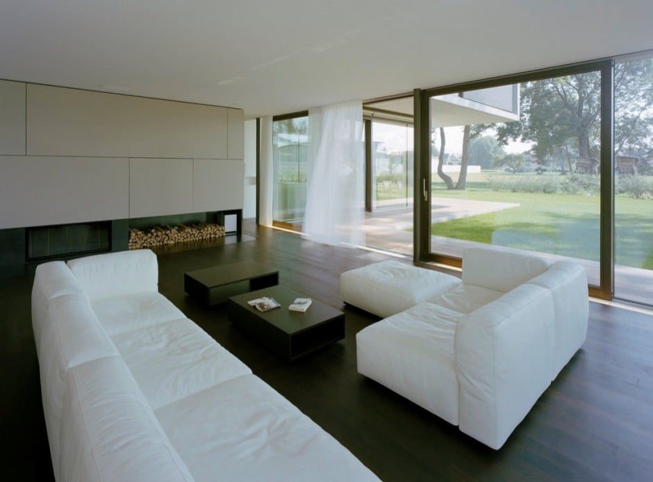 Contemporary Modern House Characteristics Defining by Two Stacked Volumes for LK House in Austria (5)