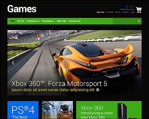 Game Portal Responsive Magento Theme