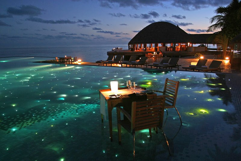 Huvafen Fushi The Sexiest Resort in the Maldives, swimming pools,