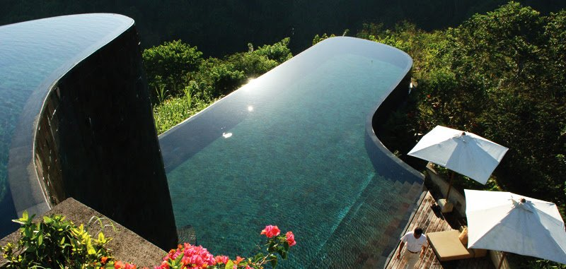 Luxurious Holidays at Maya Ubud Resort & Spa Bali, swimming pools,