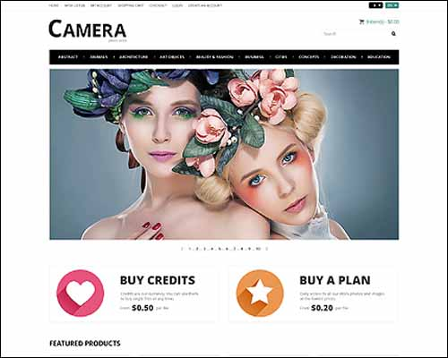 Photo Bank OpenCart Template