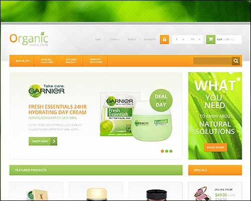 Responsive Organic Cosmetics Store PrestaShop Theme