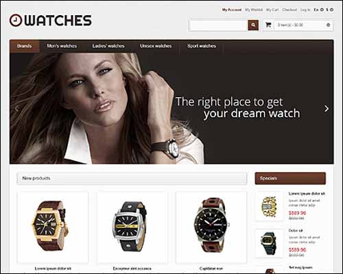 Responsive Watches Store Magento Theme