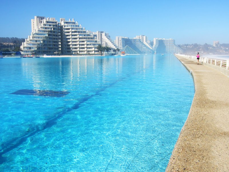 The Largest Swimming Pool in the World, Algarrobo, Chile, swimming pools,
