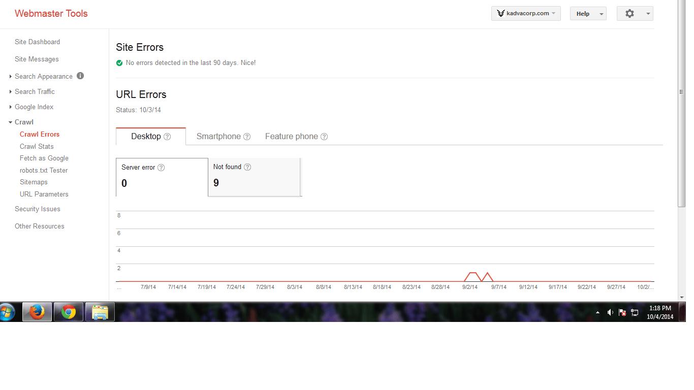 kadvacorp-google-Site Errors