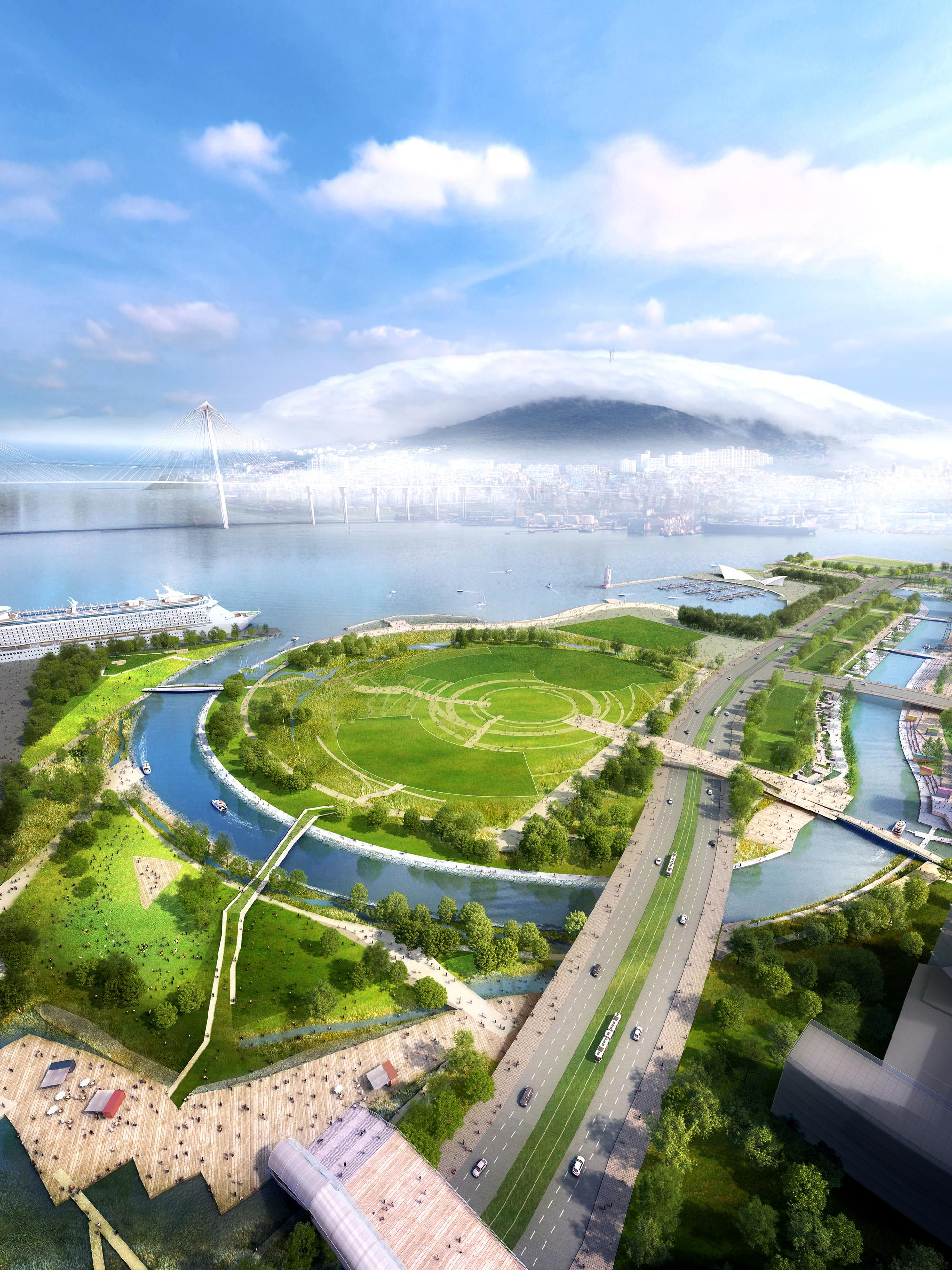 Interactive Pier, waterfront park development, waterfront park project, waterfront development projects, waterfront development example, water front design, waterfront development,