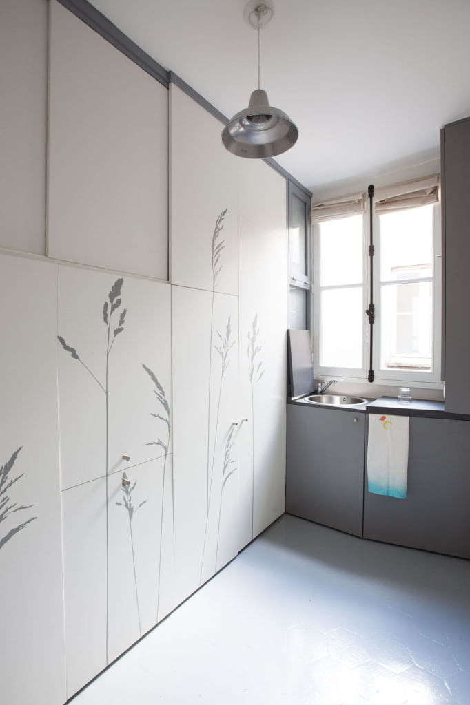 Incredibly Small Apartment in Paris Reduces Functions to Minimum-16