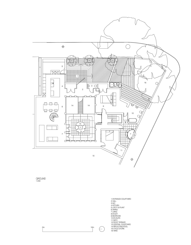 courtyard house design,