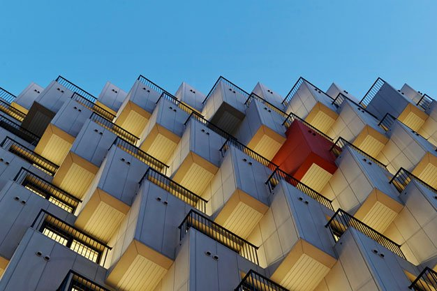 Modern Architecture Design Elements Staggered Form Hotel