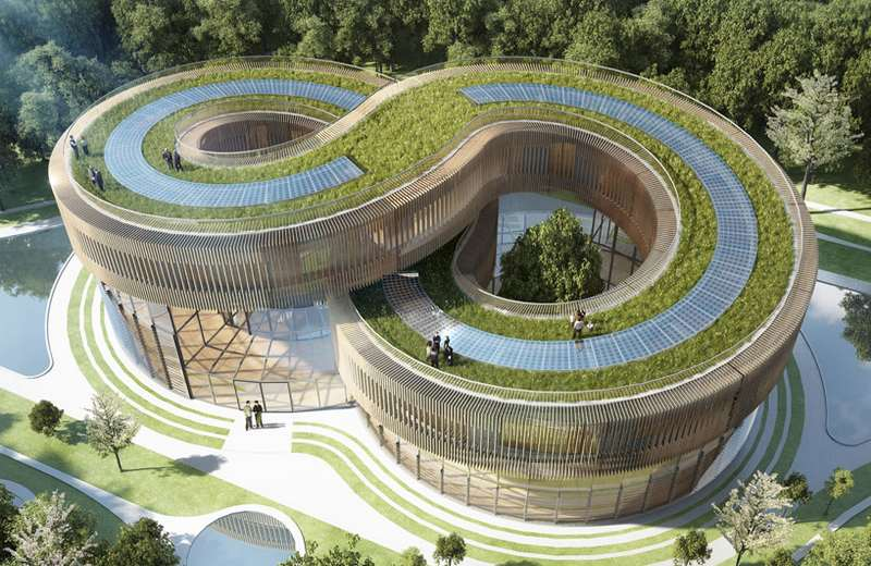 Hightech Architecture Style, Sustainable Architecture, Eco-tech Design Style,