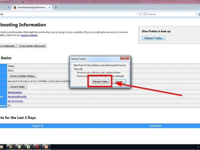 How to reset Mozilla Firefox-5