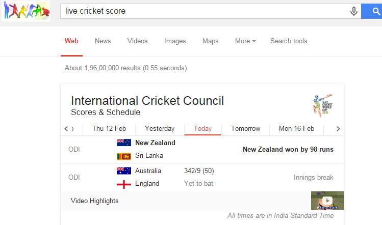 online cricket score live