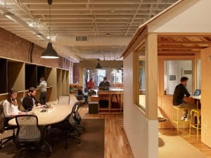 Airbnb, airbnb office interior, Portland, Office Interior, office space Design, open space office, Freedom to Employees,