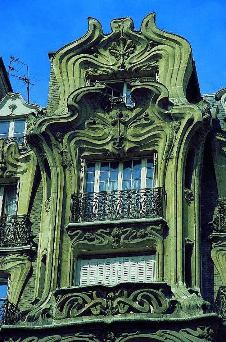 Art nouveau architectural style sought a new graphic for Architecture art