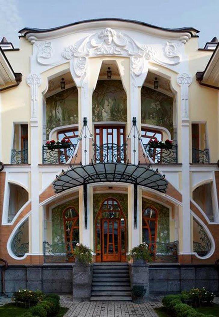 Art nouveau architectural style sought new graphic design for Architecture art nouveau