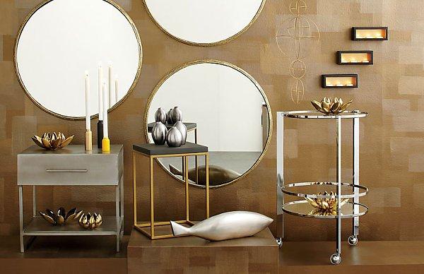metallic home accessories,