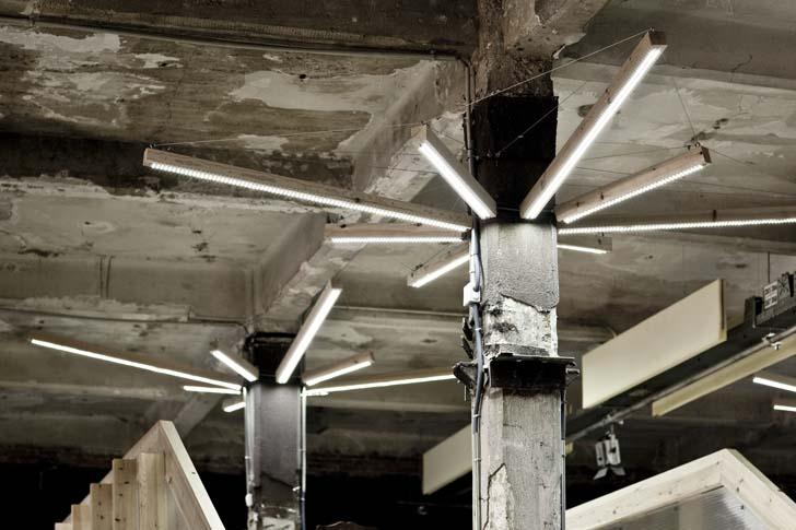 Modern Workspace, lighting concept,