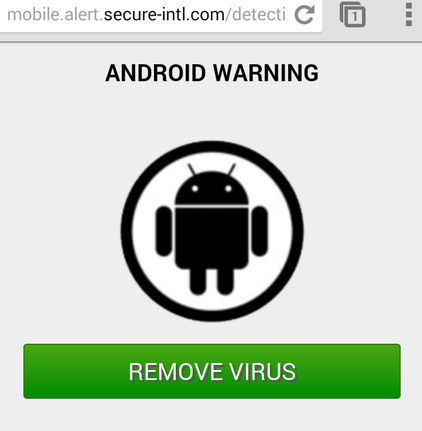 Virus Alerts Popup, fake virus alert popup, image of fake virus alert popup on mobile browsing,