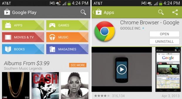Google Play, Store
