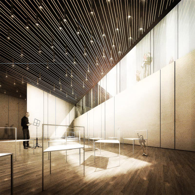 """Modern Contemporary Music: """"Supernova"""" A Music School Building Architecture In Italy"""