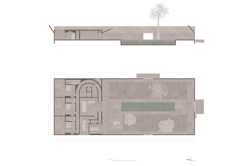 Compound Wall Design Autocad : Villa alem hides by angular concrete compound wall