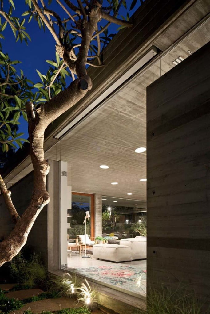 concrete texture in lighting,