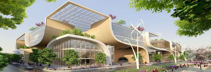 wooden orchids, urban design, china real estate, sustainable shopping center, urban shopping center, green building, urban architecture,