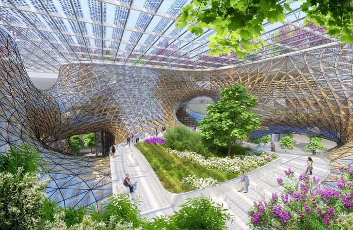 6vincent callebaut proposes wooden orchids green shopping