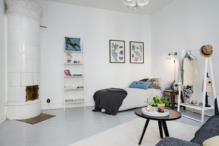 Charming One Room Studio Apartment Design Features