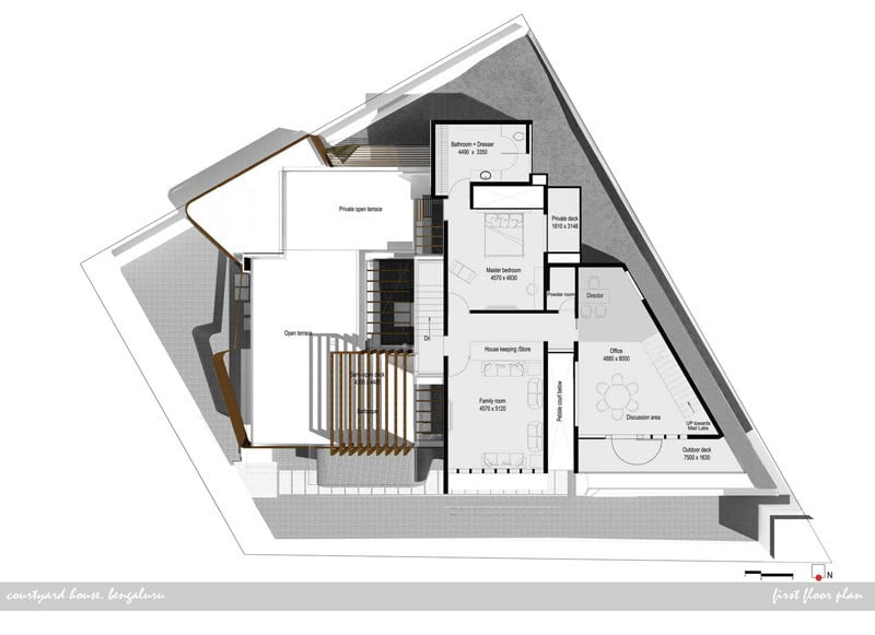 Modern House Design With Inner Courtyard House In India: modern courtyard house plans