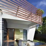 modern house design with inner courtyard,