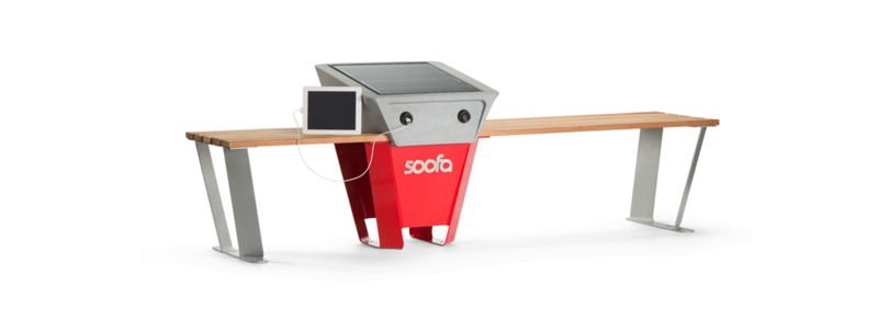 Soofa's solar bench lets people charge electronics on city streets for free 1