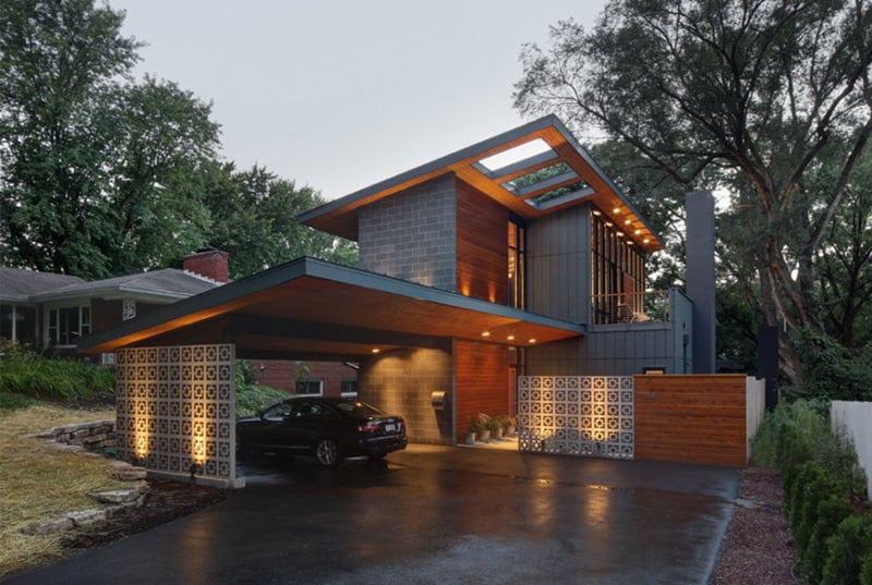 Cool Garage Ideas For Car Parking In Modern House Architecture Car Parking  Design For Home. Home Car Park Design House