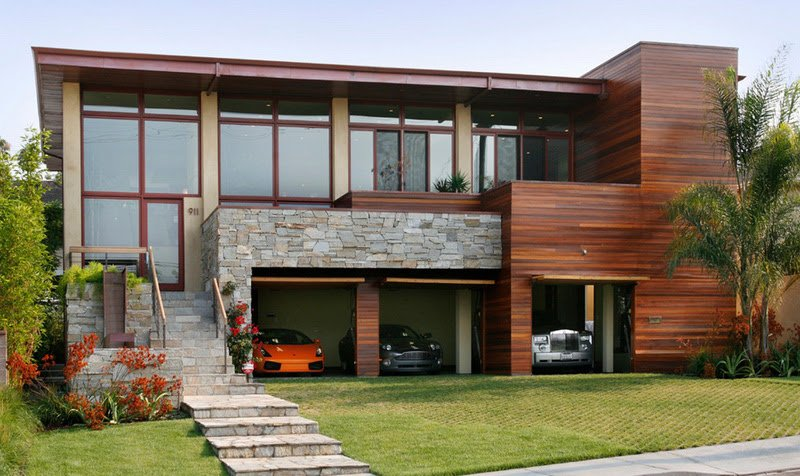 Cool Garage Ideas For Car Parking In Modern House Architecture