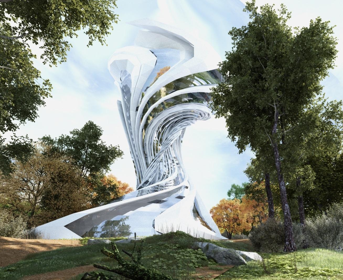 Sci fi design concept for essam center hotel architecture for Sci fi decor