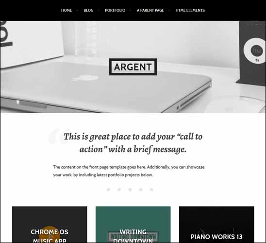 ARGENT FREE WORDPRESS THEME, Free Responsive WordPress Themes,