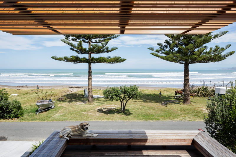 beach side family house,