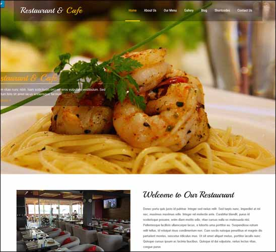 RESTAURANT LITE FREE WORDPRESS THEME, Free Responsive WordPress Themes,